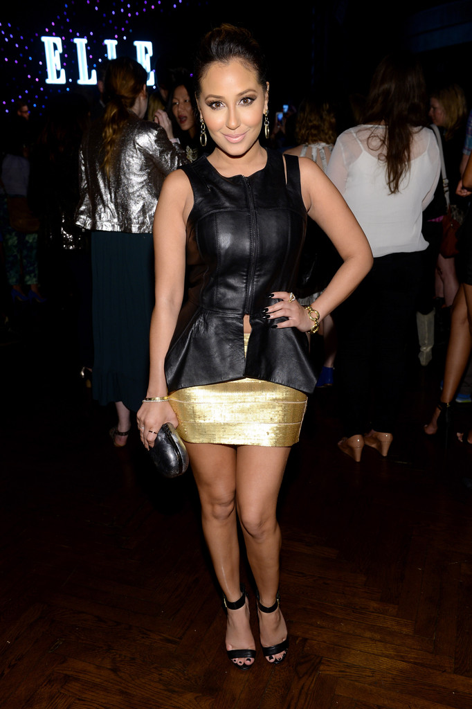 adrienne bailon mini skirt mini skirt lookbook stylebistro