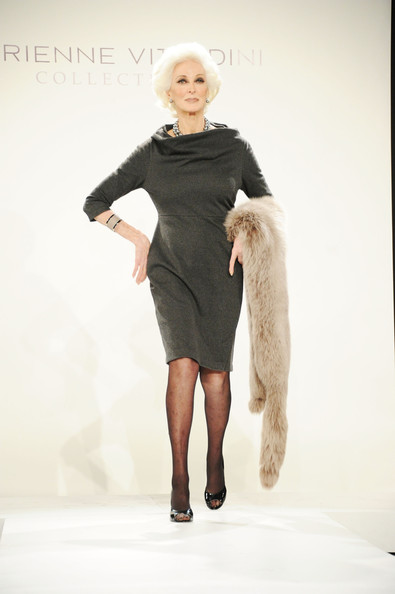 Carmen+Dell'Orefice in Adrienne Vittadini - Presentation - Fall 2011 Mercedes-Benz Fashion Week