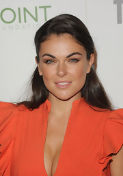 Serinda Swan wore her long locks straight and swept back at the 45th Anniversary celebration of 'The Advocate.'