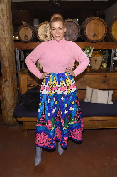 More Pics of Busy Philipps Turtleneck (4 of 15) - Tops Lookbook - StyleBistro [clothing,pink,textile,magenta,costume,aeriereal role models,aerie celebrates aeriereal role models,busy phillips,nyc,aerie]