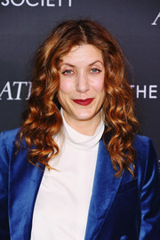 Kate Walsh attended the New York screening of 'The Aftermath' wearing her hair in bouncy curls.