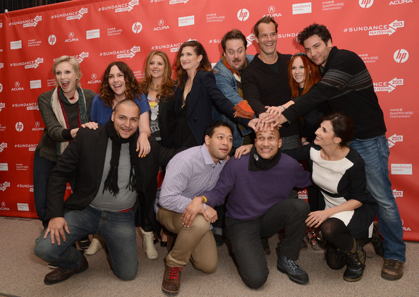 More Pics of Jane Lynch Layered Razor Cut (1 of 22) - Jane Lynch Lookbook - StyleBistro [afternoon delight,social group,red,event,youth,team,community,photography,performance,jill soloway,jane lynch,premiere - arrivals,actors,noah harpster,juno temple,clockwise l-r,sundance film festival,premiere]