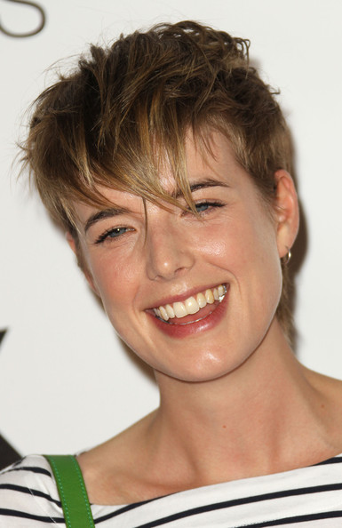 Agyness Deyn Messy Cut [hair,face,hairstyle,facial expression,eyebrow,chin,forehead,smile,head,nose,arrivals,agyness deyn,style,uk,california,hollywood,uk style,french connection celebrates lexington social house,french connection celebrates lexington social house launch,launch]
