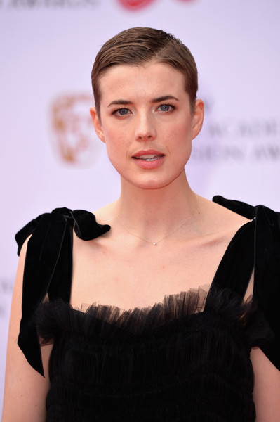 Agyness Deyn Short Side Part [hair,face,fashion,hairstyle,beauty,eyebrow,lip,skin,fashion model,haute couture,red carpet arrivals,agyness deyn,bafta television awards,virgin tv bafta television awards,england,london,the royal festival hall,virgin tv]