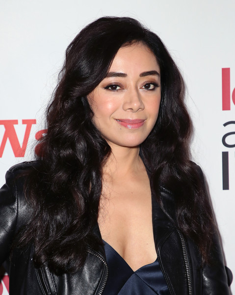 Aimee Garcia Long Curls [love actually live,hair,hairstyle,black hair,eyebrow,long hair,lip,beauty,chin,forehead,layered hair,arrivals,aimee garcia,wallis annenberg center for the performing arts,beverly hills,california,reception,opening night reception]