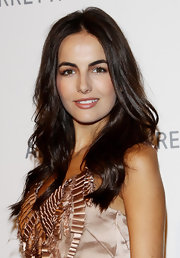 Camilla Belle played up her naturally full lips with glossy nude lipstick.