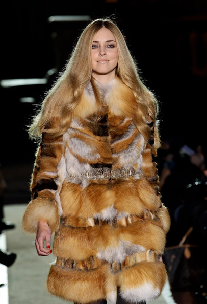 More Pics of Chiara Ferragni Beige Lipstick (3 of 4) - Makeup Lookbook - StyleBistro [fur clothing,fur,clothing,fashion,fashion model,fashion show,outerwear,runway,textile,blond,alberta ferretti,pitti immagine uomo 79,chiara ferragni,show during,pitti immagine uomo,italy,florence]