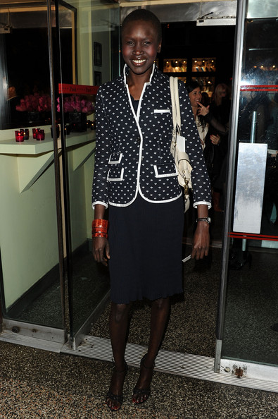 Alek Wek Skirt Suit