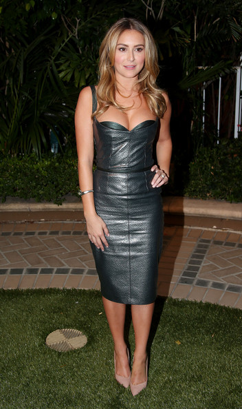 Alexa Vega Leather Dress