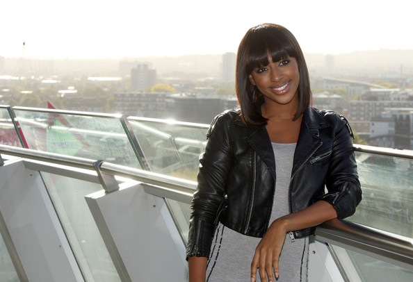 More Pics of Alexandra Burke Medium Straight Cut with Bangs (4 of 9) - Alexandra Burke Lookbook - StyleBistro