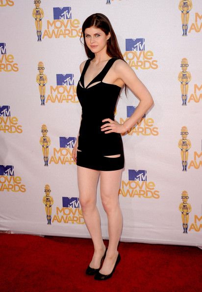 Alexandra Daddario Cutout Dress