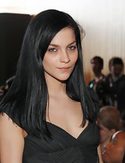Leigh Lezark wore her shiny tresses long and straight at the Alexandre Herchcovitch fall 2012 fashion show.