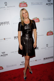 Ali Larter's zippered leather LBD at the Michigan Avenue September issue celebration was a perfect blend of edgy and girly.