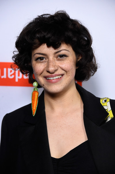 Alia Shawkat Short Curls [tribeca film festival celebrates the 2015 tribeca film festival program and tribeca films 2015 upcoming releases - arrivals,hair,hairstyle,smile,black hair,award,official,premiere,white-collar worker,alia shawkat,west hollywood,california,the standard]