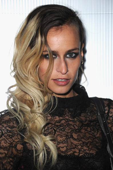 Alice Dellal Long Wavy Cut