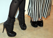 Lisa Origliasso wore a pair of studded boots at the Alice + Olivia fall presentation.