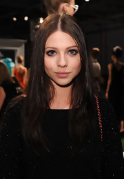 Michelle Trachtenberg's features were subtly enhanced with minimal makeup at the Alice + Olivia Spring 2012 fashion show. Just a little black eyeliner, mascara and lipgloss were used to create her pretty, polished look.