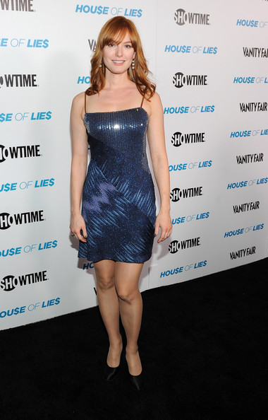 Alicia Witt Beaded Dress