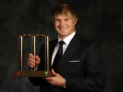 Shane Watson rocked an emo hairstyle at the Allan Border Medal.