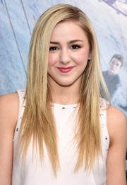 Chloe Lukasiak was stylishly coiffed with this straight layered cut at the New York premiere of 'Allegiant.'
