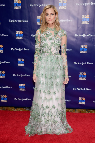 Allison Williams Embroidered Dress