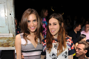 Allison Williams Zosia Mamet Prabal Gurung - Front Row - Mercedes-Benz Fashion Week Spring 2014