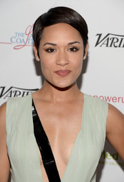 Grace Gealey attended the Power Up Gala sporting a neat side-parted 'do.