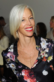 Linda Fargo attended the Altuzarra Spring 2016 show wearing her hair in a graduated bob.