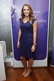 Charlotte Coor attended the 'Always Discreet' event with her hair styled in long wavy tresses.