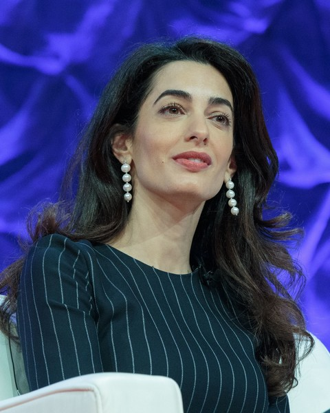 Amal Clooney Dangling Pearl Earrings