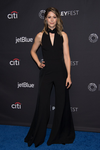 Amanda Crew Jumpsuit [clothing,dress,carpet,shoulder,red carpet,fashion,premiere,gown,a-line,flooring,arrivals,amanda crew,silicon valley,los angeles,dolby theatre,california,hollywood,paleyfest,paley center for media,hbo]
