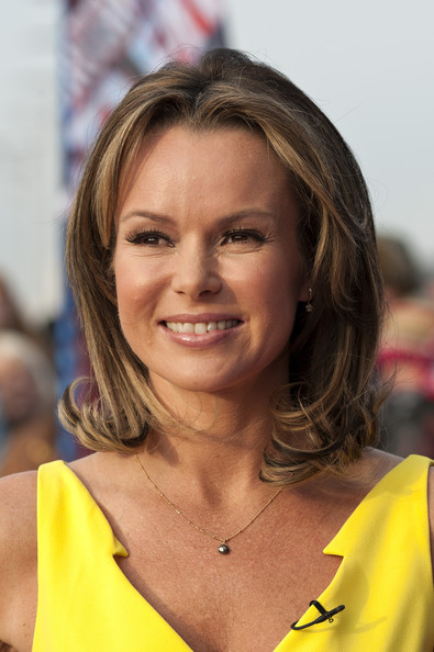 Amanda Holden Medium Wavy Cut with Bangs