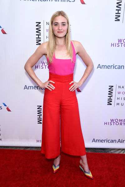 Amanda Michalka Jumpsuit [pink,flooring,carpet,shoulder,fashion model,magenta,fashion,red carpet,joint,trunk,beverly hills,california,the beverly hilton hotel,national womens history museums 7th annual women making history awards,aj michalka]