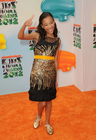 Amandla Stenberg Beaded Dress