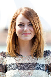 Emma Stone wore a casual yet classic mid-length bob during the 'Amazing Spider-Man' photocall in Sydney.