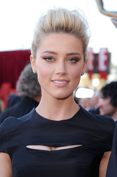 Amber Heard Diamond Studs