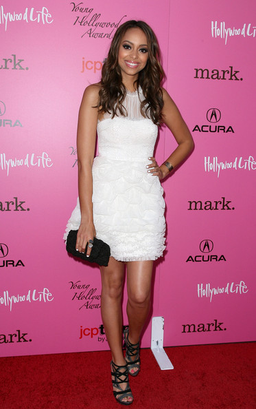 Amber Stevens Strappy Sandals [dress,clothing,cocktail dress,pink,shoulder,footwear,fashion,hairstyle,fashion model,joint,arrivals,amber stevens,los angeles,california,young hollywood awards]