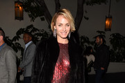 Amber Valletta Leather Dress