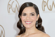 America Ferrera Dangling Pearl Earrings
