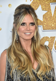 Heidi Klum was a retro beauty with her half-up bouffant at the 'America's Got Talent' season 13 live show.