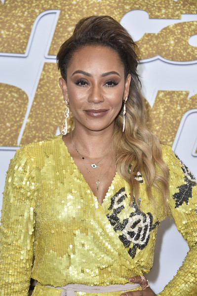 Melanie Brown rocked punky side-swept waves at the 'America's Got Talent' season 13 live show.