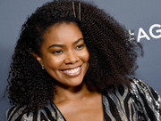 Gabrielle Union wore her natural curls at the 'America's Got Talent' season 14 live show.