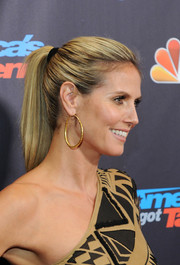 Heidi Klum opted for a simple ponytail when she attended the 'America's Got Talent' finale.
