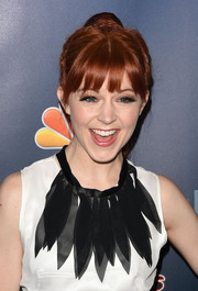 Lindsey Stirling topped off her look with a playful ponytail and a few braided strands during the 'America's Got Talent' season 9 post-show event.