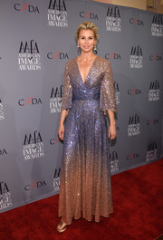 Niki Taylor looked absolutely gorgeous in this ombre sequin wrap gown at the American Image Awards.