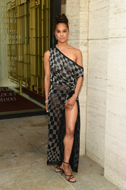 Misty Copeland complemented her dress with strappy black heels.