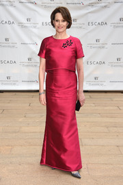 Sigourney Weaver kept it classy in a magenta evening dress by Escada at the American Ballet Theatre Diamond Jubilee Spring Gala.