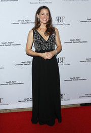 Jennifer Garner attended the American Ballet Theatre Holiday Benefit wearing a black Prada gown with a beaded bodice.