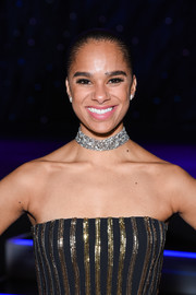 Misty Copeland sported a sparkling choker at the American Ballet Theatre Holiday Benefit.