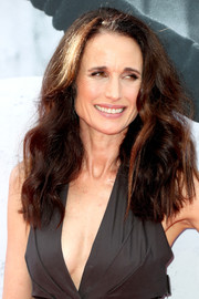 Andie MacDowell wore her hair in high-volume waves at the AFI Life Achievement Award Gala.
